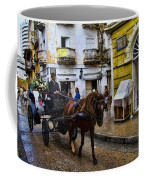 Horse And Buggy In Old Cartagena Colombia Coffee Mug by David Smith