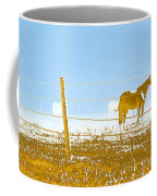 Horse Pasture Revblue Coffee Mug