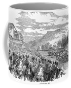 Horse Racing, 1850 Coffee Mug