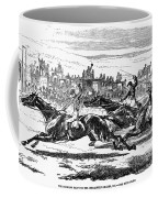 Horse Racing, 1857 Coffee Mug