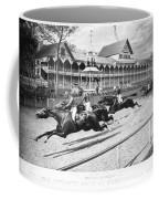 Horse Racing, 1889 Coffee Mug