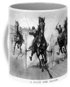 Horse Racing, 1890 Coffee Mug