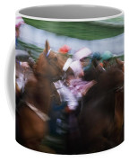 Horse Racing Horses Breaking From The Coffee Mug