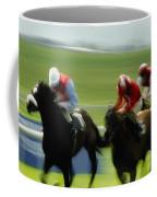 Horse Racing, Ireland Jockeys Racing Coffee Mug