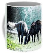 Horse Tails Color Splashed Coffee Mug