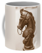 Horse Tether In New Orleans - Sepia Coffee Mug