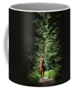 Horseback Riding On An Emerald Lake Coffee Mug