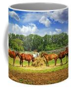 Horses At The Ranch Coffee Mug