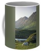Horses Grazing On A Landscape, County Coffee Mug