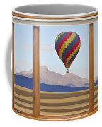 Hot Air Balloon Colorado Wood Picture Window Frame Photo Art Vie Coffee Mug