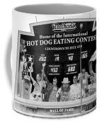 Hotdog Eating Contest Time In Black And White Coffee Mug