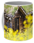 House Behind Yellow Flowers Coffee Mug by Heiko Koehrer-Wagner