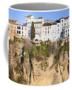 Houses On A Cliff In Ronda Town Coffee Mug