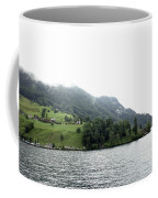 Houses On The Slope Of A Mountain Next To Lake Lucerne Coffee Mug