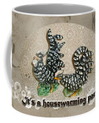 Housewarming Invitation - Black And White Chickens Figurines Coffee Mug