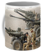 Howitzer 105mm Light Guns Are Lined Coffee Mug