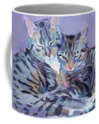 Hugs Purrs And Stripes Coffee Mug by Kimberly Santini