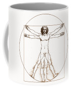 Human Body By Da Vinci Coffee Mug