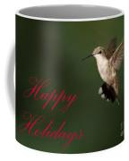 Hummingbird Holiday Card Coffee Mug