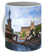 Hyde Park Fountain And St. Mary's Cathedral Coffee Mug