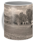 Hygiene Colorado Boulder County Scenic View Sepia Coffee Mug