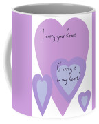 I Carry Your Heart I Carry It In My Heart - Lilac Purples Coffee Mug