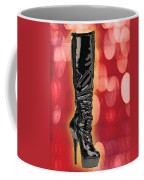 I Love The Night Life Patent Boots Coffee Mug