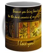 I Love You Night Graffiti Greeting Card Coffee Mug