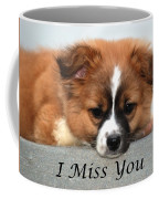I Miss You Card Coffee Mug