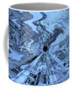 Ice Blue - Abstract Art Coffee Mug by Carol Groenen