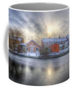 Icy River Panorama Coffee Mug