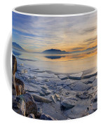 Icy Sunset On Utah Lake Coffee Mug