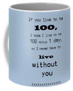If You Live To Be 100 - Blue Coffee Mug