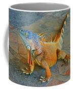 Iguana At The Restaurant  Coffee Mug