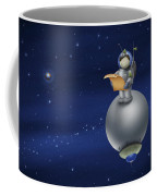 Illustration Of A Cartoon Astronaut Coffee Mug
