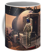 Illustration Of An Astronaut Leaving Coffee Mug by Walter Myers
