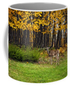 In A Yellow Wood Painted Coffee Mug