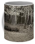 In A Yellow Wood Sepia Coffee Mug