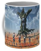 In An Alternate Reality Cyborgs Pay Coffee Mug by Mark Stevenson