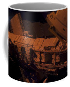 In The Darkness Of Space, An Astronaut Coffee Mug by Stocktrek Images