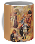 In The Luxembourg Gardens Coffee Mug by Pierre Auguste Renoir