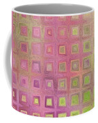 In The Pink With Squarish Squares  Coffee Mug