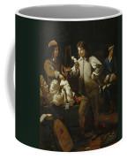 In The Studio Coffee Mug by Michael Sweerts