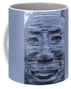 In Your Face In Cyan Coffee Mug