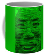 In Your Face In Green Coffee Mug