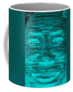In Your Face In Neagtive Turquois Coffee Mug