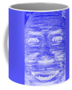 In Your Face In Negative Blue Coffee Mug