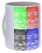 In Your Face In Negative Colors Coffee Mug