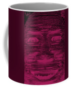 In Your Face In Negative  Hot Pink Coffee Mug