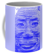 In Your Face In Negative Light Blue Coffee Mug
